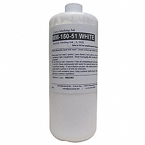 Marking Ink with Solvent Base Type and 30 to 60 sec. Dry Time, White