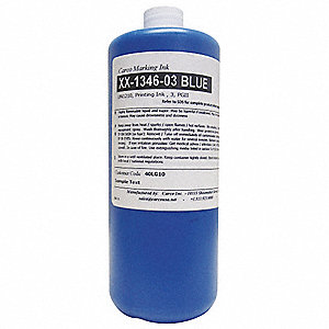 Marking Ink with Solvent Base Type and 10 to 15 sec. Dry Time, Blue