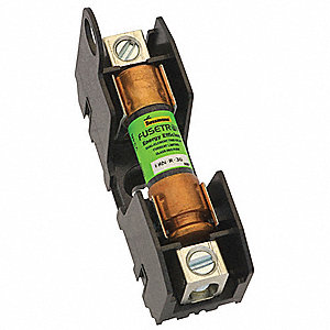 2-Pole Industrial Fuse Block, AC: 250VAC, DC: 125VDC, 0 to 30A, Series LPN, KTN-R, FRN
