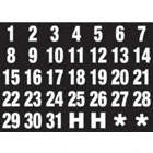 MAGNETIC HEADING NUMBERS,1 IN.W X 1 IN.H