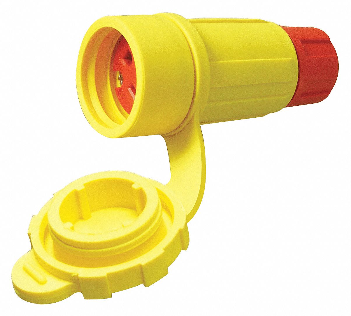 30 Amp Industrial Grade Watertight Locking Connector, L16-30R NEMA Configuration, Yellow