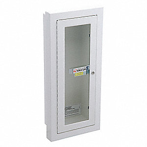 Fire Extinguisher Cabinet,  26 3/4 in Height,  11 3/4 in Width,  5 3/4 in Depth,  10 lb Capacity