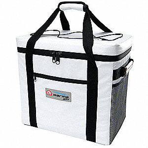 "Soft Sided Cooler, 36 Cans, Exterior Height 15-1/2"", Exterior Length 16-3/4"", Exterior Width 12"""