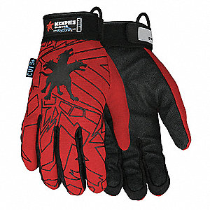 Uncoated Cut Resistant Gloves, ANSI/ISEA Cut Level 5, Alycore Lining, Red/Black, 2XL, PR 1