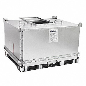 Bulk Container,59-1/4 In L,Silver