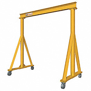 Portable Gantry Crane,12 ft. H,Yellow