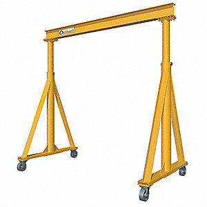 Portable Gantry Crane,11 ft. H,Yellow