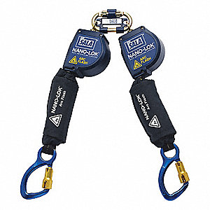 Self-Retracting Lifeline,Black,Carabiner