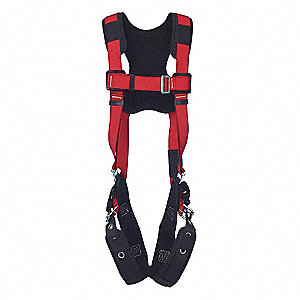 PRO™ Full Body Harness with 420 lb. Weight Capacity, Red, S