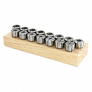 Collet Set, DA200, 1/32 in., 9 pcs.