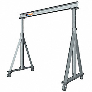 Portable Gantry Crane,2000 lb.,6 ft. 7""