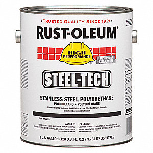 Rust oleum steeltech polyurethane coating gray 1 qt for Remove paint from stainless steel