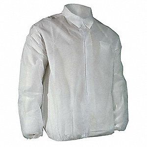 White Polypropylene Disposable Lab Coat, Size: 4XL