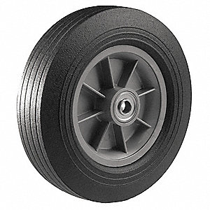 Hand Truck Wheel,3/4in Bore Dia,Centered