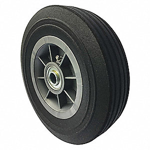 Hand Truck Wheel,5/8 in. Bore Dia,Offset