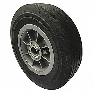 "8"" Light-Medium Duty Ribbed Tread Solid Wheel, 500 lb. Load Rating"