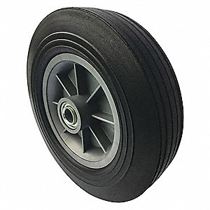 Hand Truck Wheel,3/4 in. Bore Dia,Offset