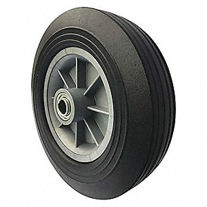 "10"" Light-Medium Duty Ribbed Tread Solid Wheel, 550 lb. Load Rating"