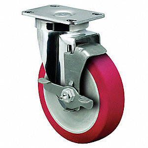 "5"" Plate Caster, 300 lb. Load Rating"