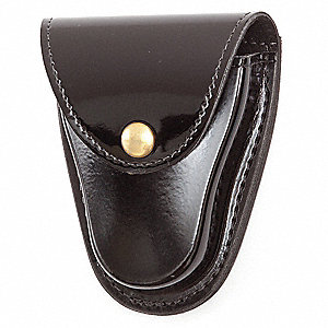 Handcuff Pouch, Snap, Synthetic Polymer, Black