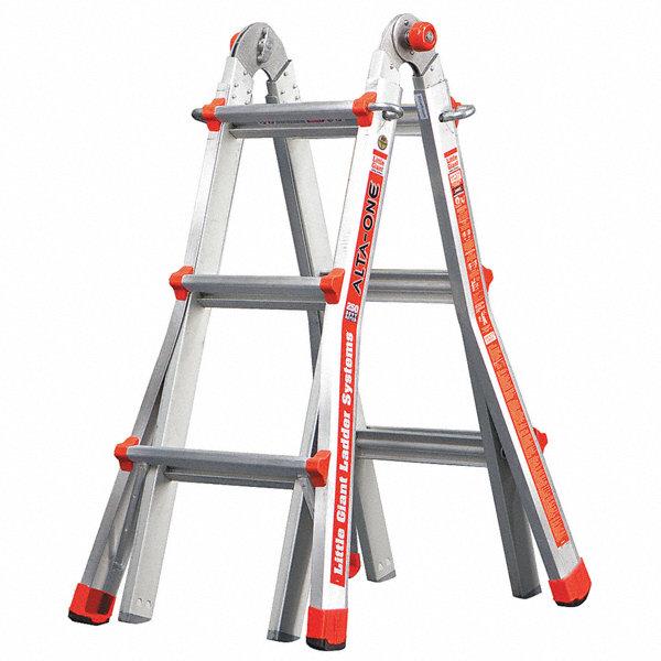 Little Giant Aluminum Multipurpose Ladder 11 Ft Extended