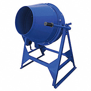 Concrete Mixer,3 cu ft,Steel,Blue