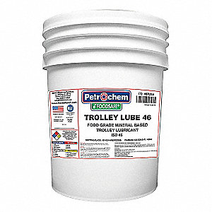 Trolley Lubricant, -54°F to 475 Degrees F, No Additives, 5 gal. Pail