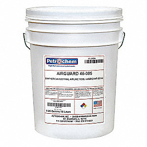 Synthetic Air Line Tool Lubricant, 5 gal. Container Size