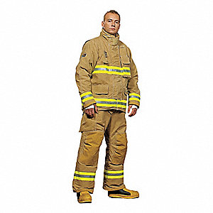 "Kevlar®/Nomex,  Turnout Pants, Size: 3XL, Fits Waist Size 48 to 50"", 30"" Inseam"