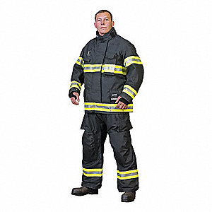 "Kevlar®/Nomex,  Turnout Pants, Size: 3XL, Fits Waist Size 48 to 50"", 28"" Inseam"