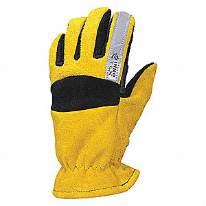 Gloves,Cowhide,Black and Gold,S,PR