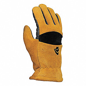 Gloves,Cowhide,Black and Gold,L,PR