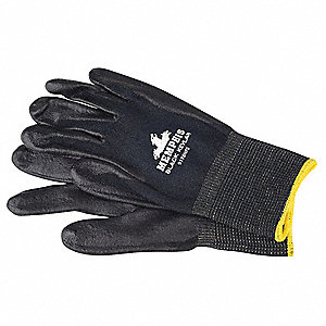 Nitrile Cut Resistant Gloves, ANSI/ISEA Cut Level A4 Lining, Black, S, PR 1