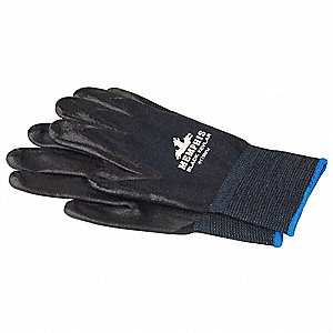 Nitrile Cut Resistant Gloves, ANSI/ISEA Cut Level A4 Lining, Black, M, PR 1
