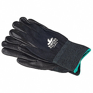 Nitrile Cut Resistant Gloves, ANSI/ISEA Cut Level A4, Kevlar® Lining, Black, XL, PR 1