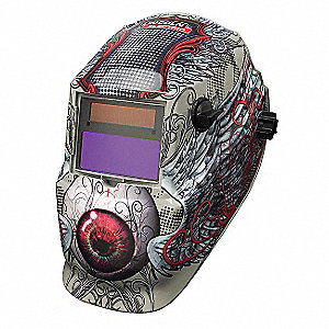 Auto Darkening Welding Helmet, Red/Tan, 600S, 9 to 13 Lens Shade