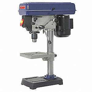 "1/3 Motor HP Bench Drill Press, Belt Drive Type, 8"" Swing, 120 Voltage"