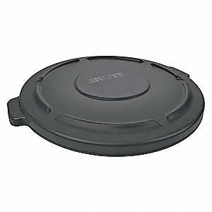Brute Flat-Type Trash Can Top for 55 gal. Container, Black
