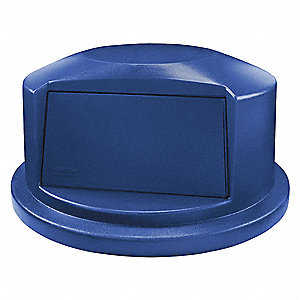 Trash Can Top,Dome,Swing Closure,Blue