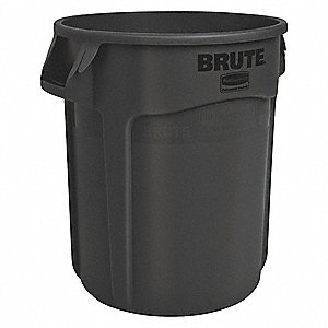 "BRUTE® 20 gal. Round Open Top Utility Trash Can, 22-3/4""H, Black"