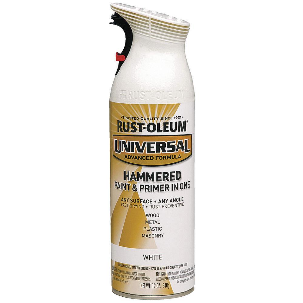 Universal Hammered Spray Paint In Hammered White For Aluminum Metal Wood 12 Oz