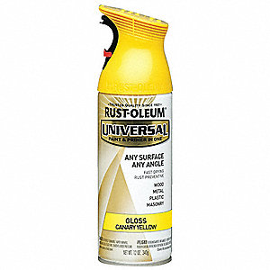Universal Spray Paint in Gloss Canary Yellow for Aluminum, Metal, Wood, 12 oz.