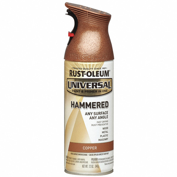 Rust Oleum Universal Hammered Spray Paint In Hammered Copper For Aluminum Metal Wood 12 Oz