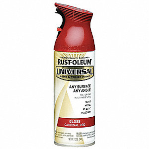 Universal Spray Paint in Gloss Cardinal Red for Aluminum, Metal, Wood, 12 oz.