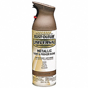 Universal Spray Paint in Gloss Aged Copper for Aluminum, Metal, Wood, 11 oz.