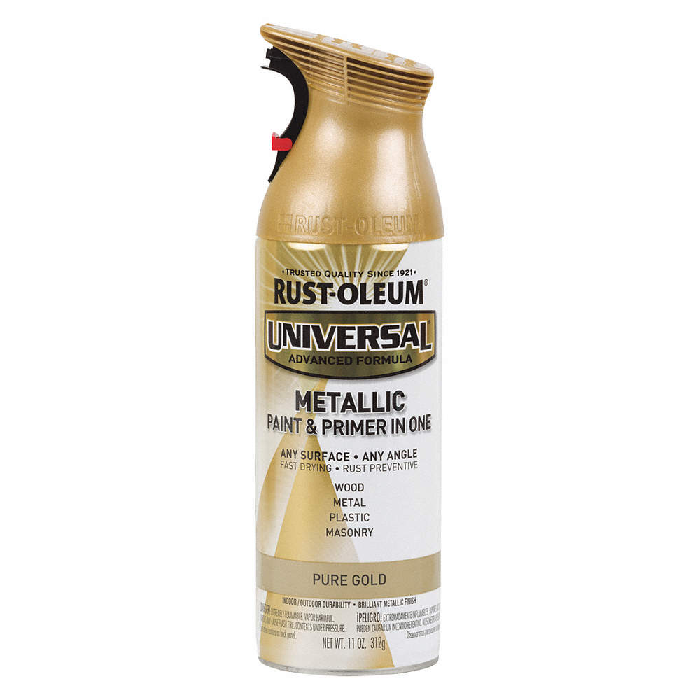 Universal Spray Paint In Gloss Gold For Aluminum Metal Wood 11 Oz