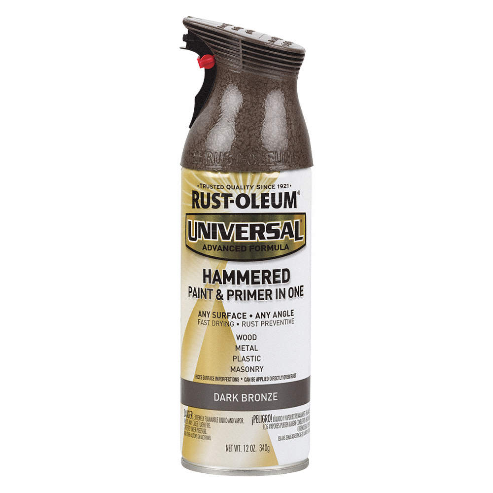 Universal Hammered Spray Paint In Hammered Dark Bronze For Aluminum Metal Wood 12 Oz