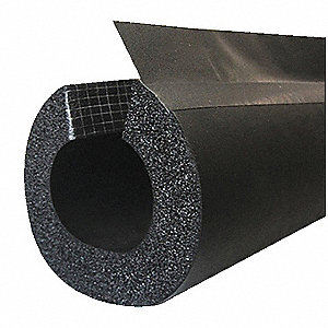 "1/2"" Thick, Flexible Closed Cell Foam Pipe Insulation, 6 ft. Insulation Length"