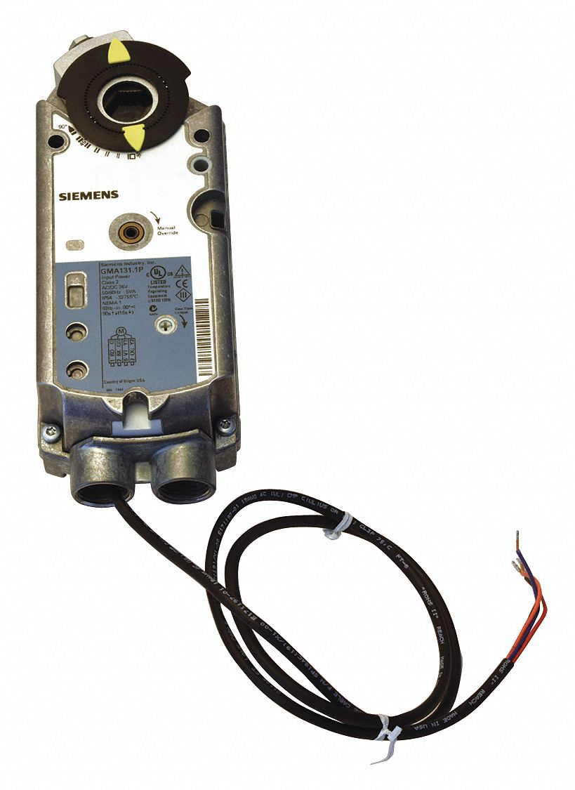 24V AC/DC Floating Electric Actuator, -25° to 130°F, 62 in-lb, 90 sec, Includes: Anti-Rotation Mount