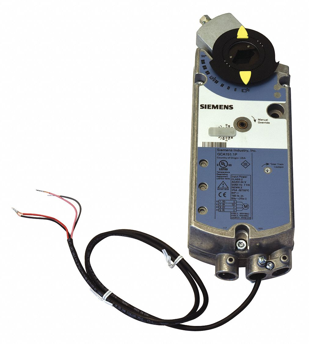 24V AC/DC Modulating Electric Actuator, -25° to 130°F, 160 in-lb, 90 sec, Includes: Anti-Rotation Mo